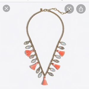 J. Crew Stone and Tassel Necklace